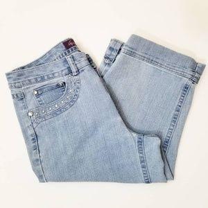 Gloria Vanderbilt The Ashley Jean Capri Pants 8